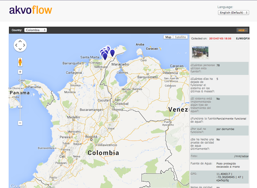 MWA Colombia FLOW map