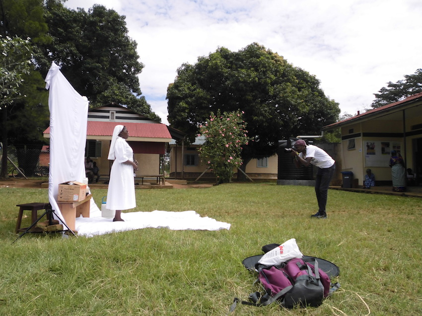 Akvo heroes photoshoot with the Diocese of Jinja