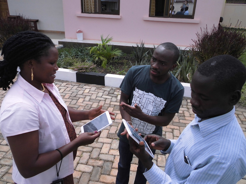Akvo FLOW enumerator training with Uganda WASH Alliance partners