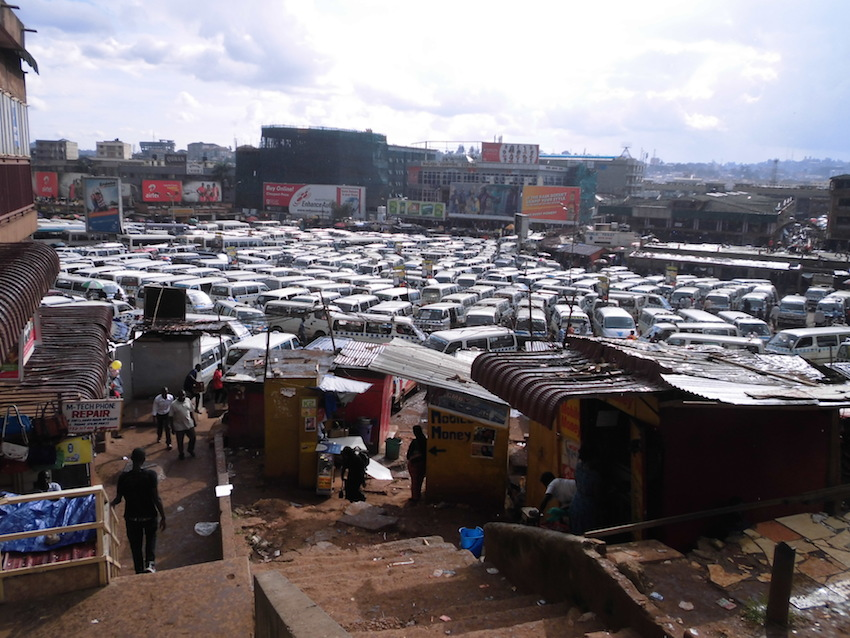 Taxi park, Kampala