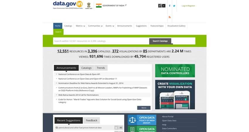 data.gov.in 850