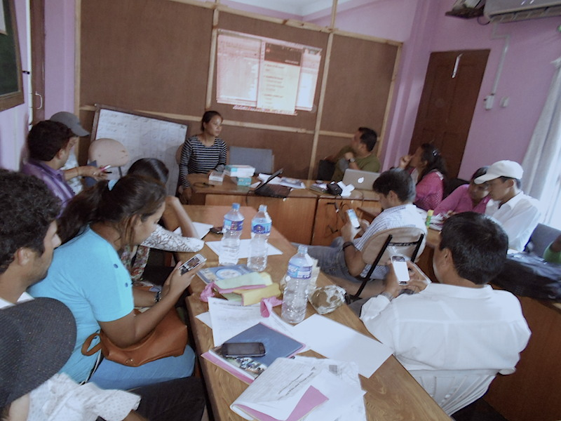 Enumerators training on using FLOW application, Bharatpur