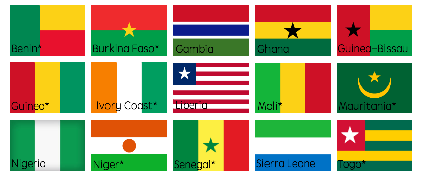 West African countries and names v2