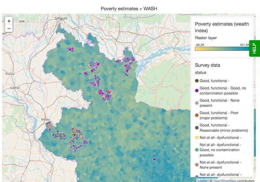 Map visualisation